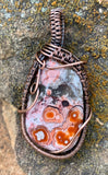 Tumbled Mexican Lace Agate in Copper