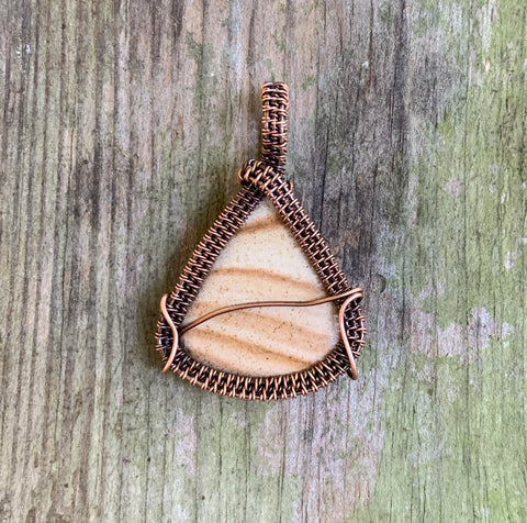 Striped Tumbled Picture Jasper in Copper