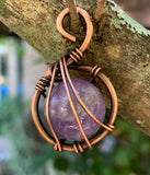 Amethyst Sphere Wrapped in Copper
