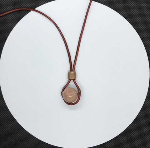 Sunstone and Copper - adjustable necklace