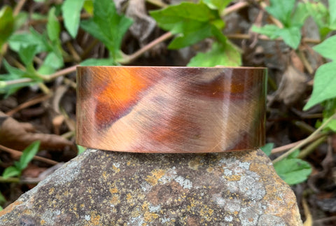 Flame Painted Copper Cuff Bracelet