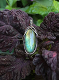 Sparkling Labradorite wrapped in Sterling Silver