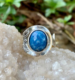 Adjustable Denim Lapis Sterling Silver Ring