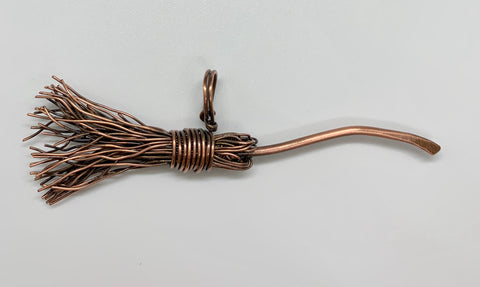 Copper Broom Pendant