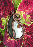 Yin and Yang Polychrome Jasper and Copper Pendant