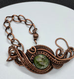 Copper Ore Jasper and Copper Bracelet - adjustable