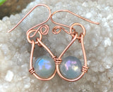 Opalite and Copper Earrings
