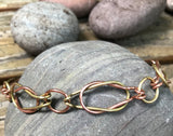 Men's Copper and Brass Sailors Knot Bracelet - 91/2""