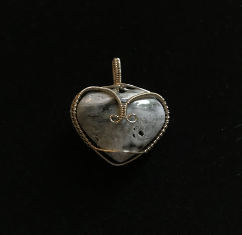 There's a hole in my heart. Ocean Jasper Heart in Sterling Silver