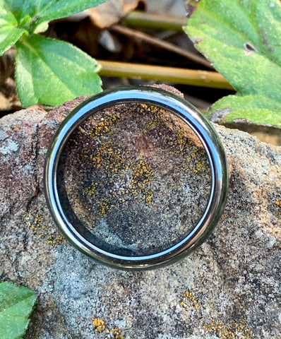 Solid Hematite Ring - size 9 1/2