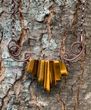 Tiger Eye and Copper Curls Necklace