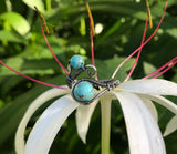 Oxidized Sterling Silver and Turquoise Ring