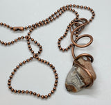 Tumbled Crazy Lace Agate Necklace in Copper