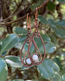 Copper and Mother of Pearl Earrings