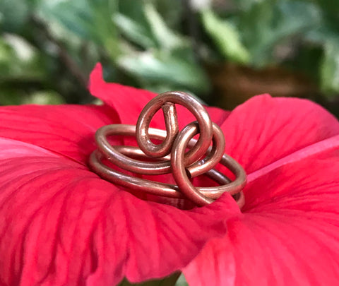 Copper Knot Ring - size 7 1/2