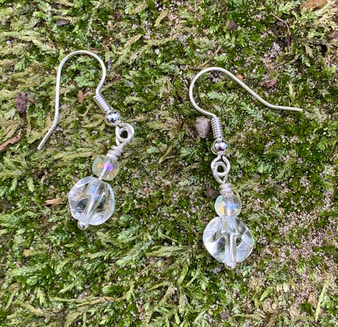 Sterling Silver Glass Bead Earrings