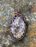 Asteroid Jasper in Copper Pendant