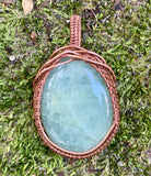 Aquamarine and Copper Pendant