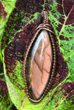 Stunning Pink Labradorite wrapped in Copper