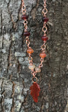 Flattering Carnelian and Copper Necklace