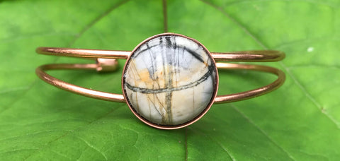 Picasso Jasper and Copper Bracelet