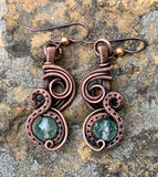 Intricate Agate and Copper pendant