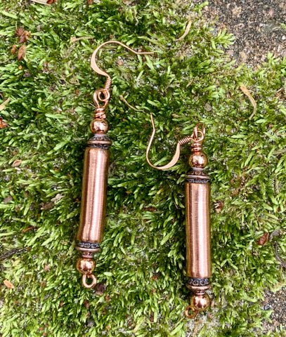 Copper Tube Earrings