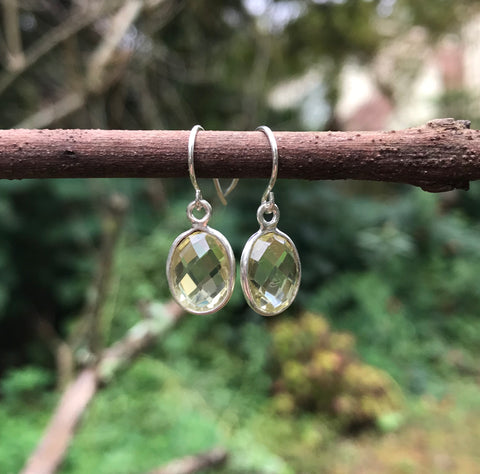 Lemon Quartz Sterling Silver Earrings