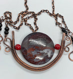 Bold Jasper Necklace in Copper