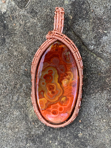 Bright Crazy Lace Agate in Copper
