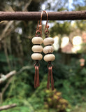 Howlite and Copper Dangle Earrings
