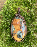 Maligano Jasper wrapped in Copper