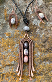Porcelain Jasper Necklace and Earring Set in Copper