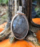 Black Rutilated Quartz in Sterling Silver