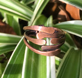 Copper Stacked Ring - size 9