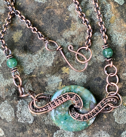 Fancy Jasper and Copper Necklace