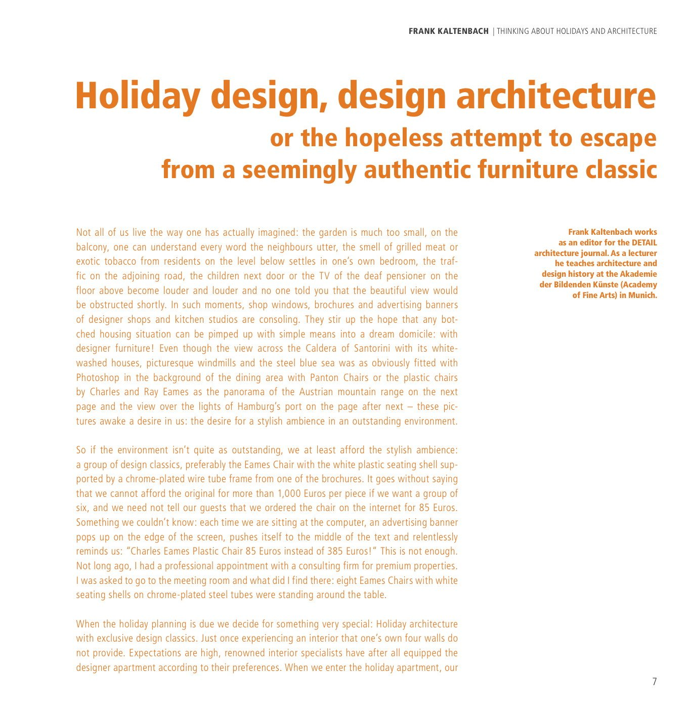 HOLIDAYARCHITECTURE - Selection 2016 (English Cover)