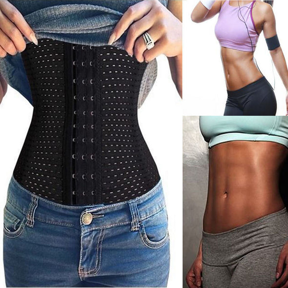 Women Breathable Waist Shapers Rubber Waist Trainer