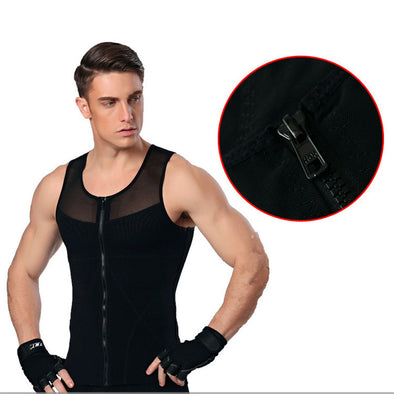Men tshirt shapers slimming belt belly vest waist