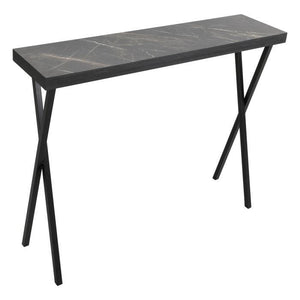 Data Console Table Dark Marble