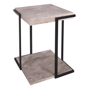Royan Square Side Table Concrete Effect