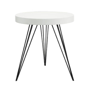 Sibford Side Table Round Gloss White
