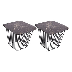 Veila Pack Of 2 Tables Dark Marble