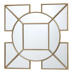 Lyshia Square Mirror With Gold Foil Detail