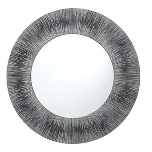Neome Round Mirror With Silver/Grey Frame