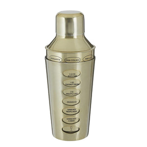 Recipe Cocktail Shaker Brushed Brass