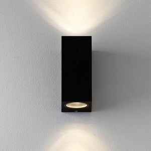 Chios 150 Up & Down LED Wall Light Textured Black