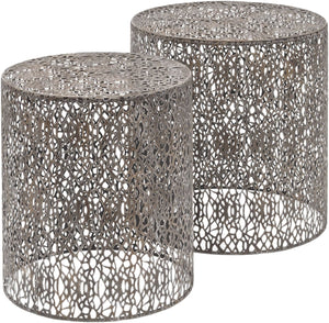Caprio Set of 2 Grey Nesting Side Tables