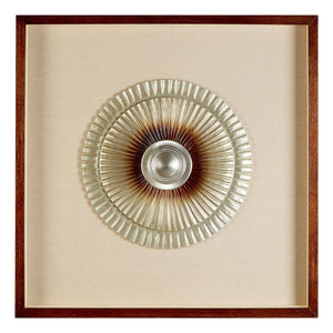 Framed Round Two Tone Carving - Silver & Bronze