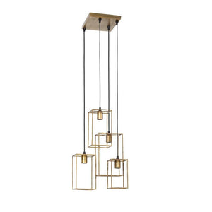 Marley 4 Light Antique Gold Pendant
